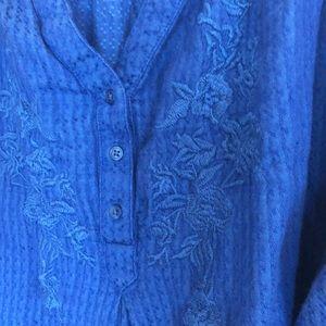 St. John's Bay 1X royal blue blouse.